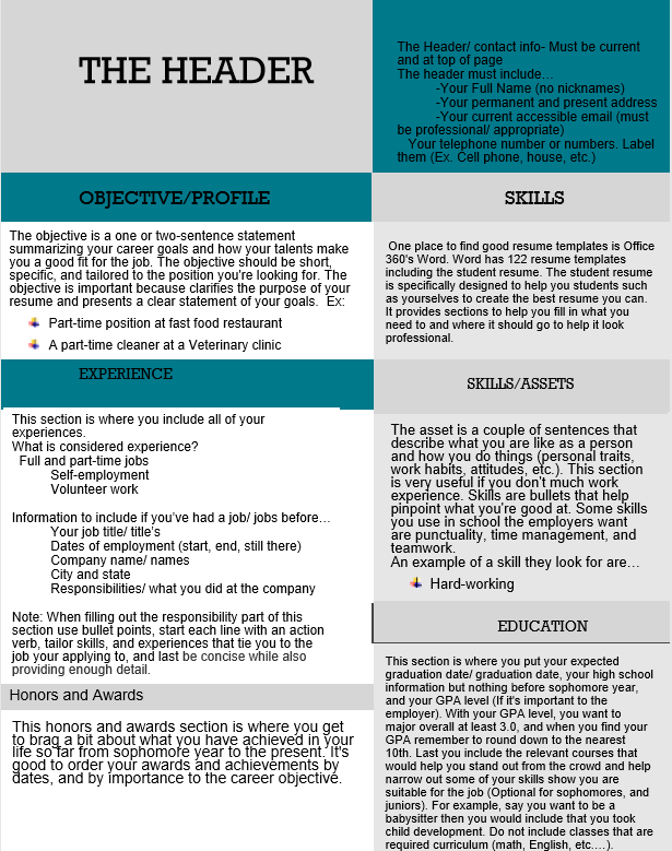 A How-to-Guide for Student Resume's